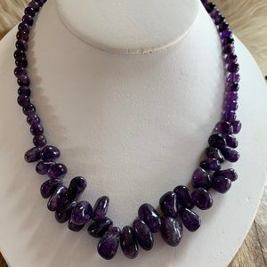 Amethyst Polished North West Bead Necklace